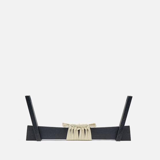 Ebonized, w/ white knotting