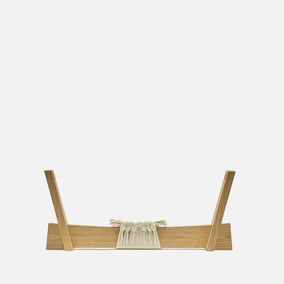 Natural, w/ white knotting