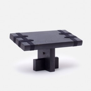 EDO meditation stool, ebonized finish, by DAIKUKAI
