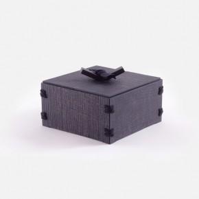 TOMOBAKO chestnut wooden box (ebonized)